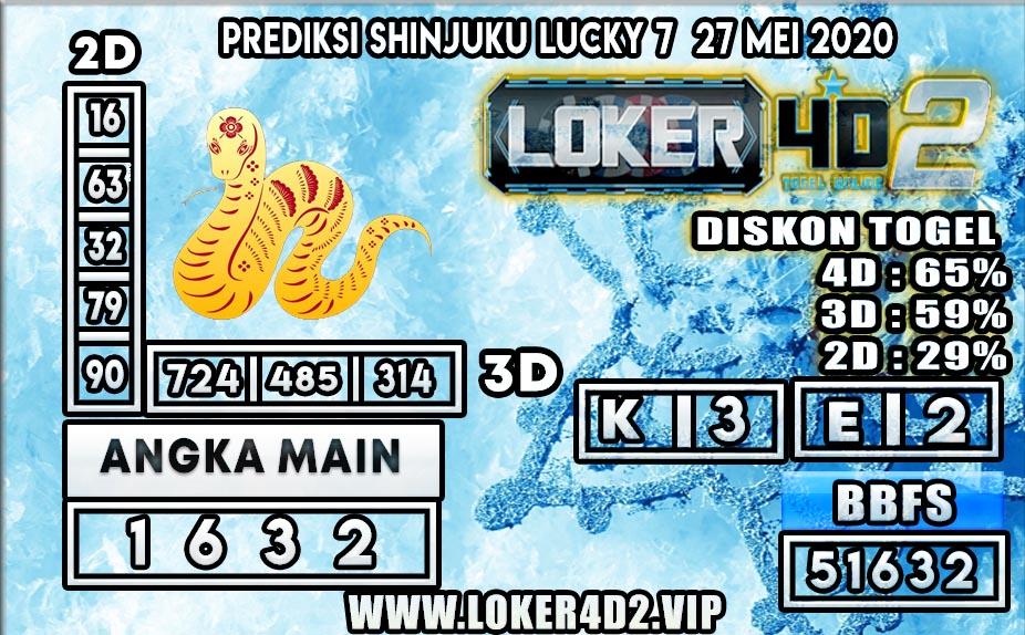 PREDIKSI TOGEL SHINJUKU LUCKY 7 LOKER4D2 27 MEI 2020