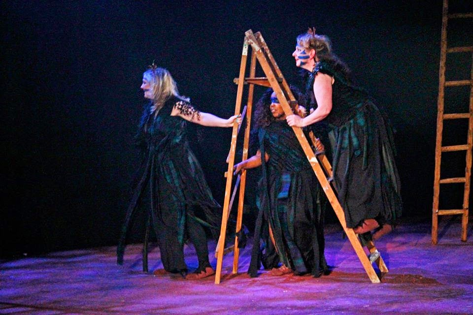 The Witches - Macbeth - English Pocket Opera Company - photo Emily Bestow