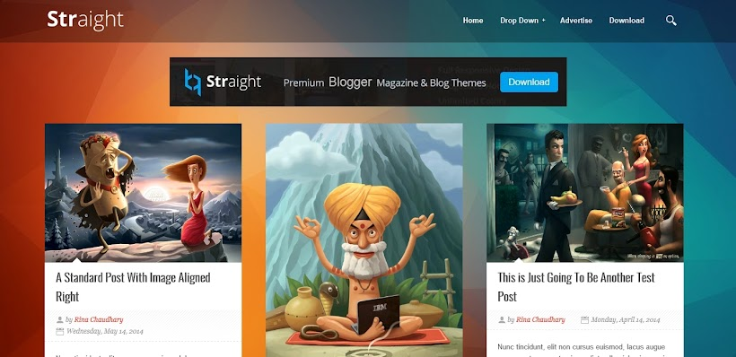 Straight Free Blogger Template