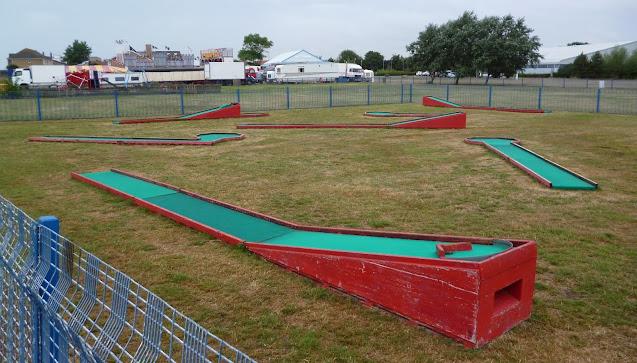 The Crazy Golf course at Coronation Gardens in Walton on the Naze