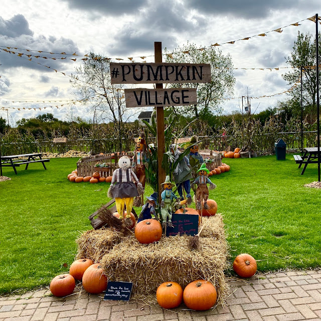A display at the pumpkin Village in Essex