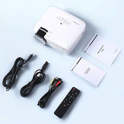 Crosstour Proyector P770: proyector Full HD de hasta 176 pulgadas con altavoces estéreo integrados