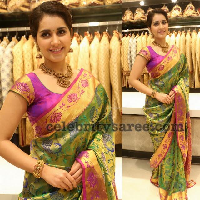 rashi-khanna-kanjeevaram-silk-saree