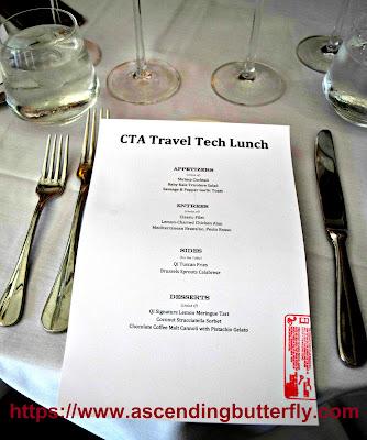 CTA Travel Tech Lunch Menu