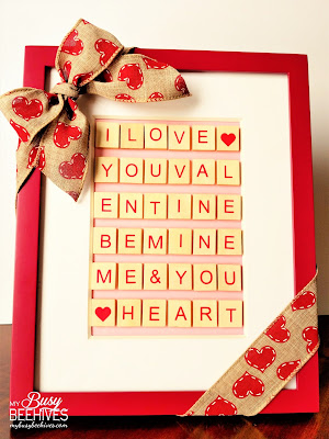Valentine's Day Scrabble Letter Art