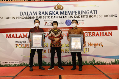 Kapolresta dan Kasatreskrim Polresta Bandar Lampung Raih Penghargaan Bergengsi