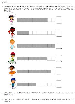 Contando e aprendendo com brincadeiras - Números até 9