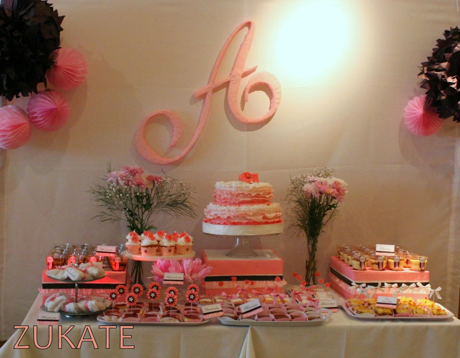 Fiesta de 80 a os para antonia zukate for Mesa de dulces para 15