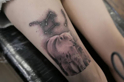 polor bear and star tattoo