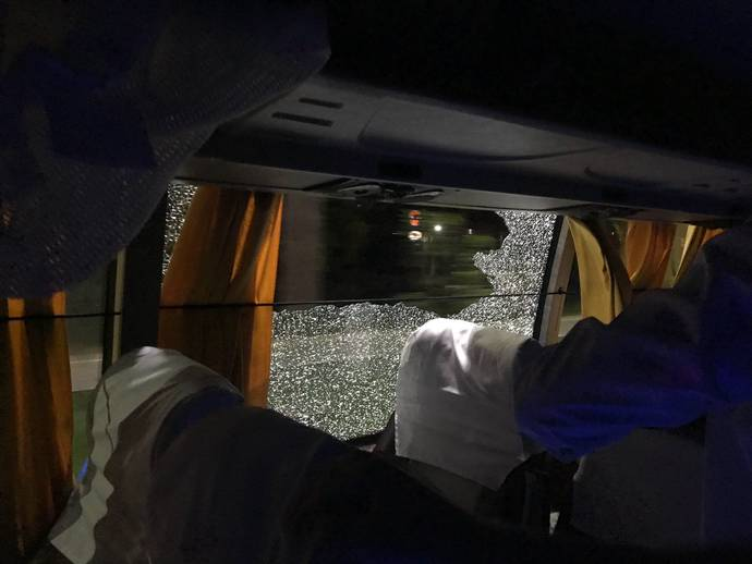 Rock hurled at Australian cricket team's bus after 2nd T20