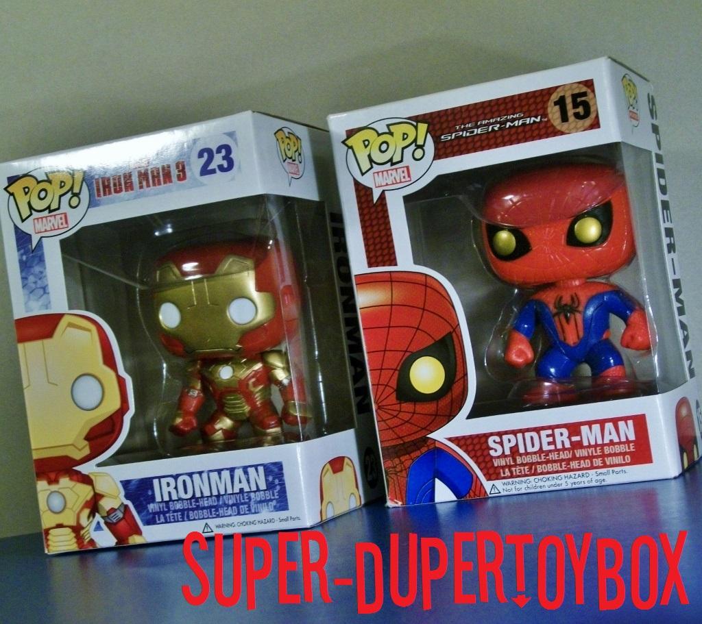 Super Dupertoybox Funko Pop Iron Man 3 Amp Amazing Spider Man
