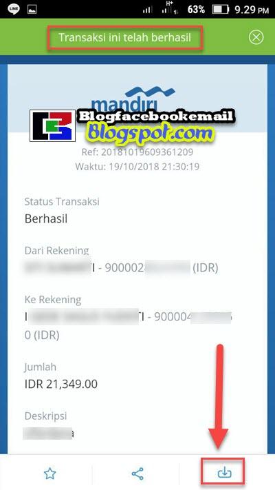 transaksi menggunakan mandiri online telah berhasil