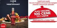 Logo Coca-Cola: vinci 100 voucher cena a domicilio