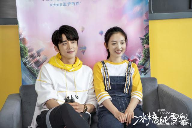 skate into love media visit Janice Wu Steven Zhang