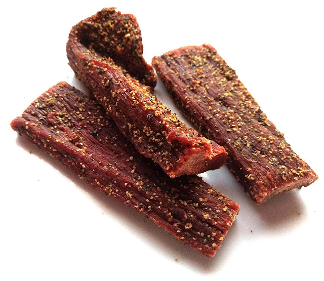 hickory smoked peppered beef jerky
