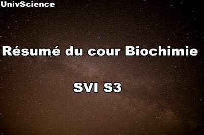 Résumé du cour Biochimie Structurale SVI S3