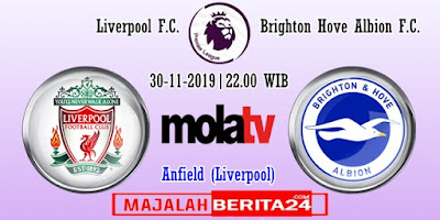 Prediksi Liverpool vs Brighton — 30 November 2019