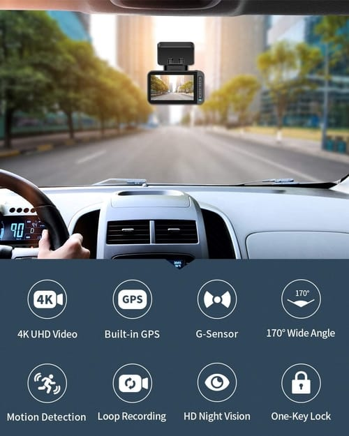 Review XTU T3 4K Dual Dash Cam Car Camera