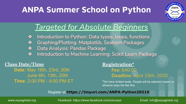ANPA Summer School on Python 2021