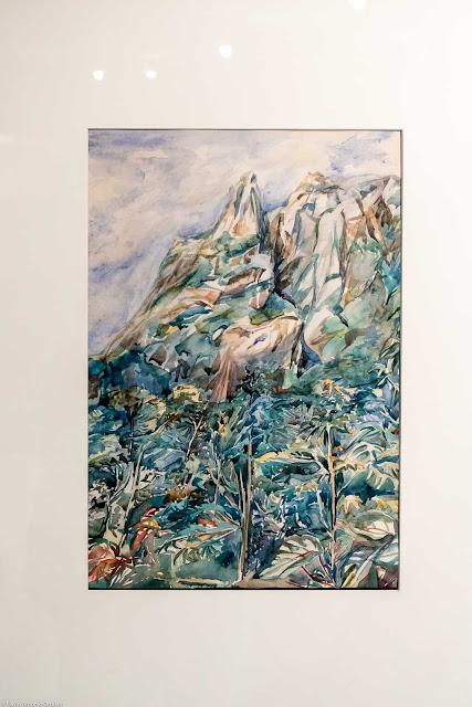 """""""Pico Marumbi"""", sem data, aquarela, Hilda Kirchgässner"""