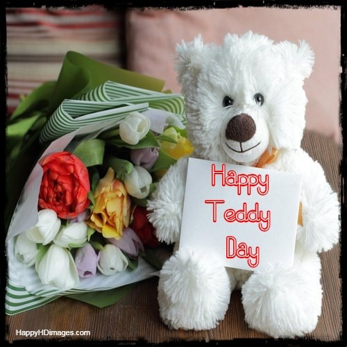 teddy day card