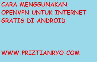 Cara Menggunakan OpenVPN Untuk Internet Gratis di Android