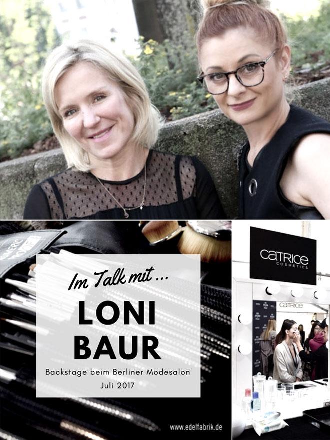 Der Berliner Modesalon Backstage, Gespräch mit Loni Baur