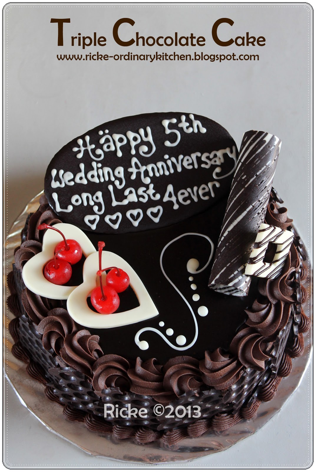Triple Chocolate Cake Ricke