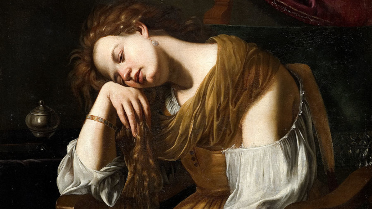 Artemisia Gentileschi   Mary Magdalene as Melancholy, 1622