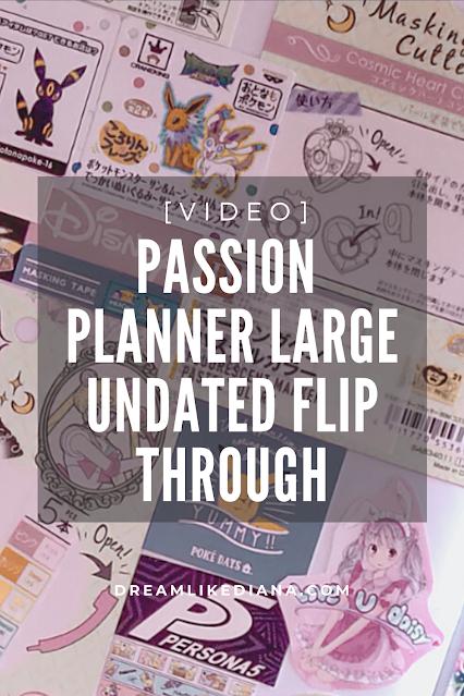 passion planner large flip thru