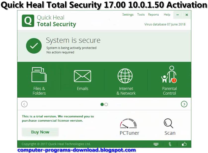 quick heal antivirus pro 2018 keygen
