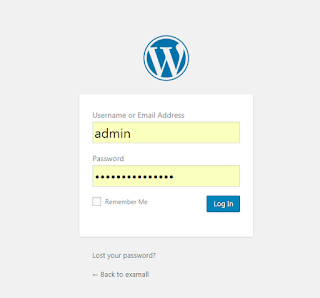 Login wordpress.