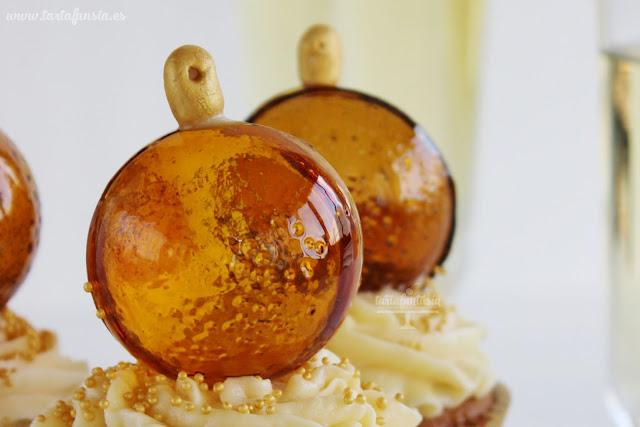 Tutorial Cupcakes de Navidad con bola de cristal comestible