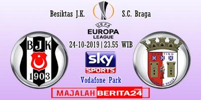 Prediksi Besiktas vs Sporting Braga — 24 Oktober 2019