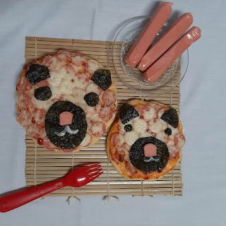 Pizza beruang lucu