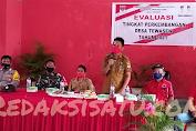 Tim Evaluasi Perkembangan Desa Kacamatan Ambar Di Sambut Pemdes Tewasen.