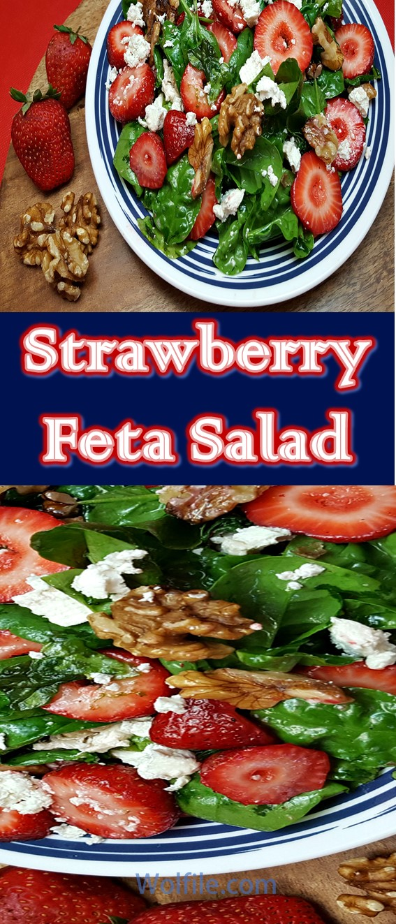 Strawberry Feta Salad Recipe #Salad #Healthy #Strawberry #Walnut