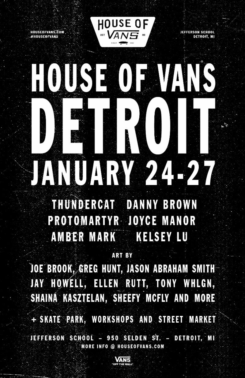 f6492aba89 House of Vans Takes over Jefferson School in Detroit this January