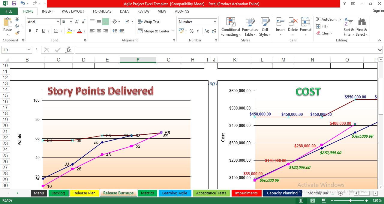 Free Agile Project Management in Excel Template