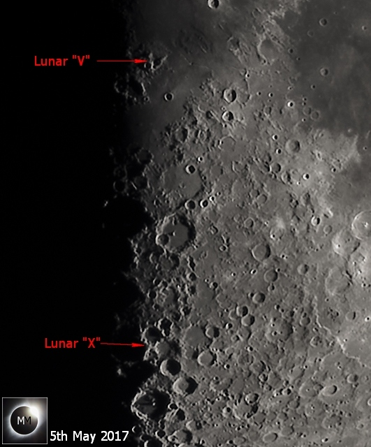 Lunar X and V photo