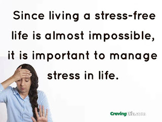 Since living a stress-free life is almost impossible, it is important to manage stress in life.