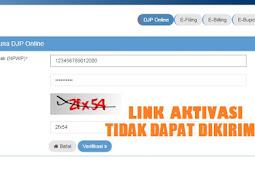 Link Aktivasi DJPOnline Tidak Bisa Dikirim ke email