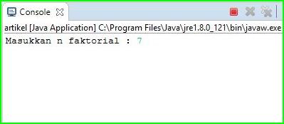 Program Java - Menghitung Nilai Faktorial Menggunakan While