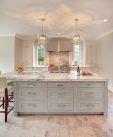 Wondrous kitchen style ideas with granite countertop and cool backsplash also with mesmerizing pendant lamps