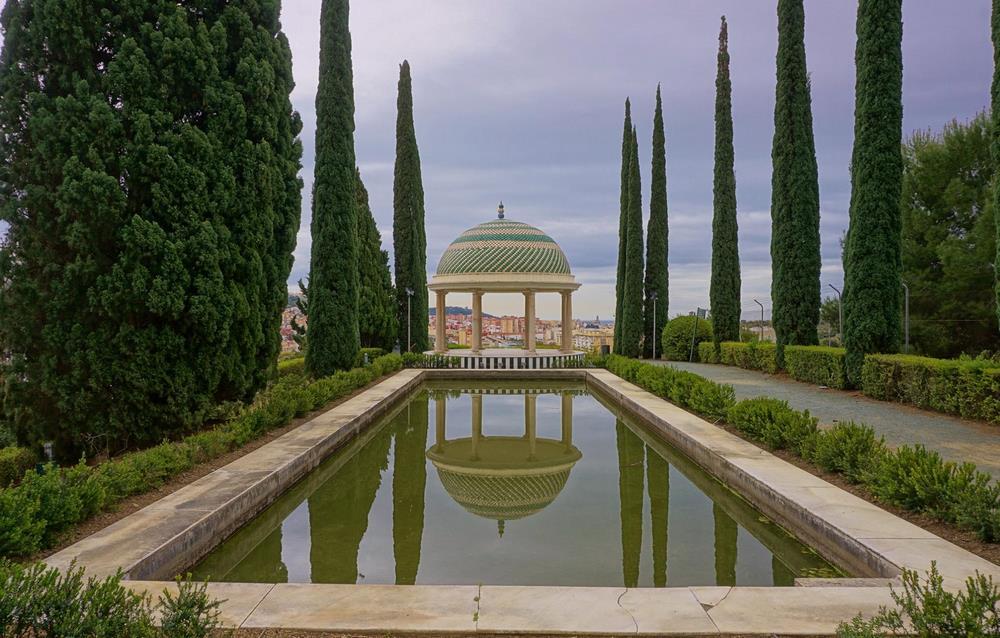 Mirador del jardín botánico La Concepción de Málaga