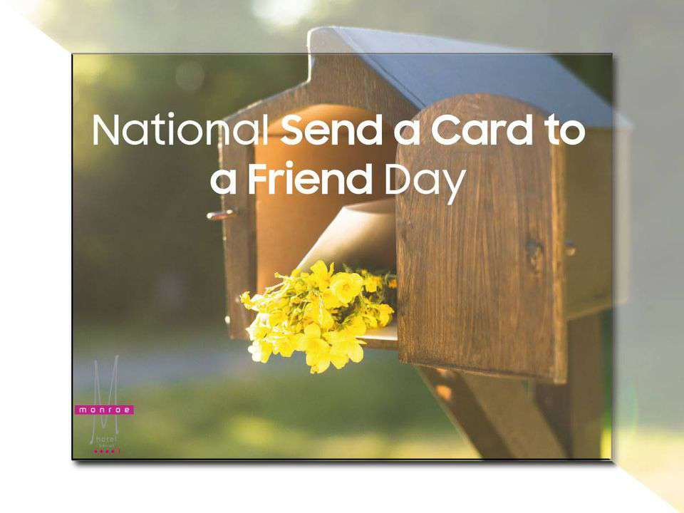 National Send a Card to a Friend Day Wishes For Facebook