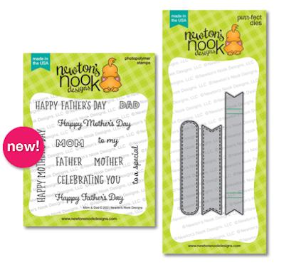 Mom & Dad Stamp Set & Banner Trio Die Sets by Newton's Nook Designs #newtonsnook