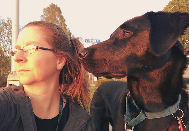 The Writer's Pet: Jen Hirt, author of Hear Me Ohio, pictured with her dog