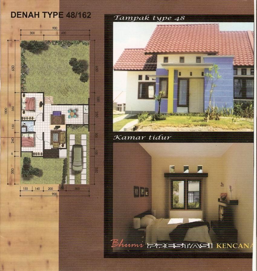 Contoh Rumah  Minimalis Rumah  minimalis type 48  bumi