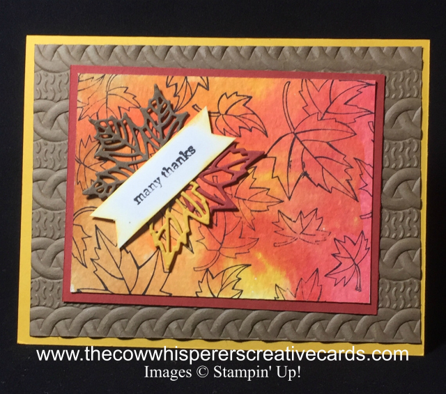 Blended Seasons, Fall Leaves, Cable Knit Embossing Folder, Stitched Seasons Framelits Dies